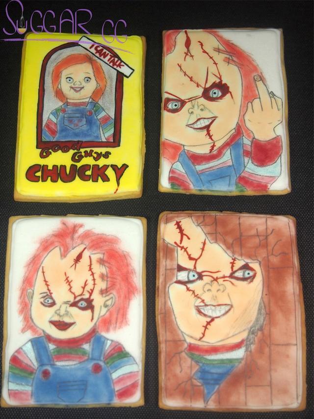 Chucky doll cookies