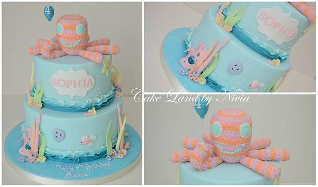 Admirable Under The Sea Birthday Cake Cake By Nivia Cakesdecor Funny Birthday Cards Online Eattedamsfinfo