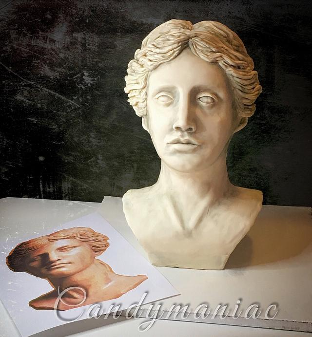 Aphrodite bust cake