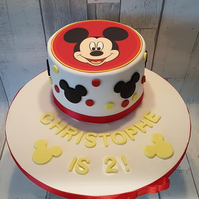 Super Mickey Mouse 2Nd Birthday Cake Cake By Kirstyscakes1 Cakesdecor Funny Birthday Cards Online Hendilapandamsfinfo