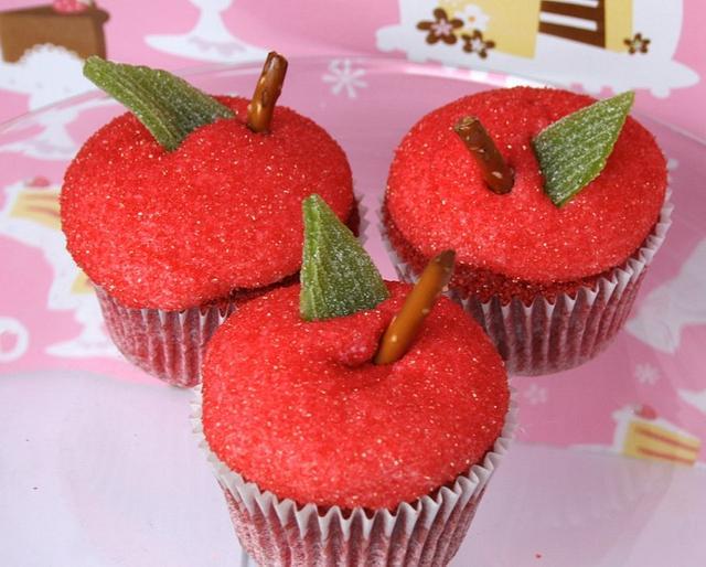Red Apple Red Velvet Cupcakes