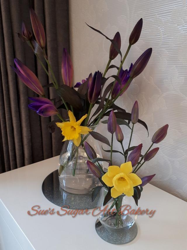 Purple lillies