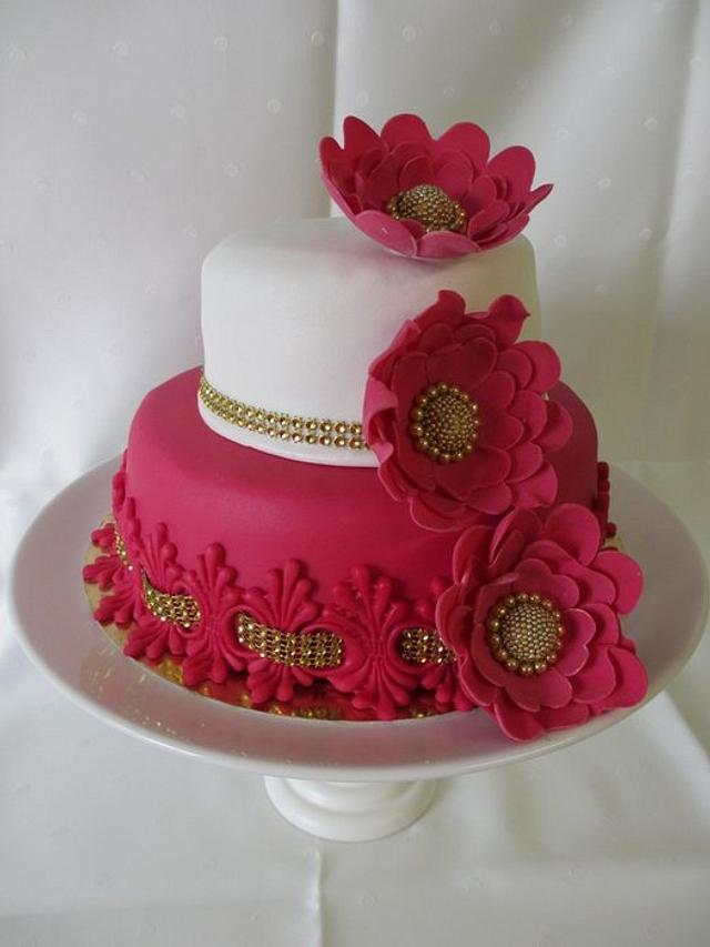 magenta cake
