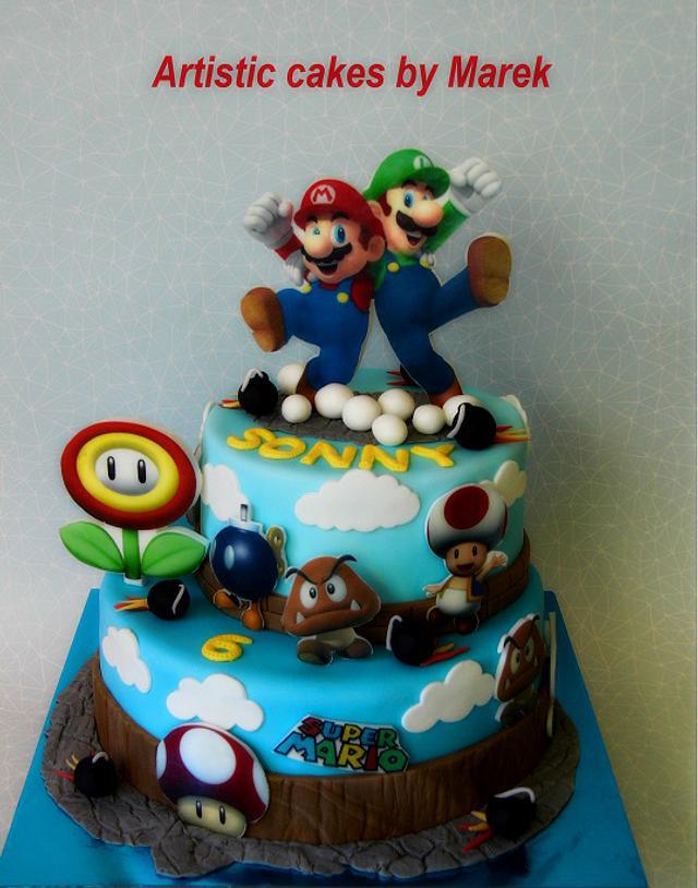 Outstanding Super Mario Birthday Cake Cake By Marek Cakesdecor Personalised Birthday Cards Veneteletsinfo