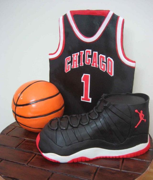 basket ball, air jordan cake