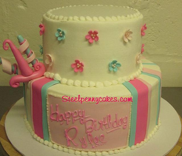 1st birthday 2 tier