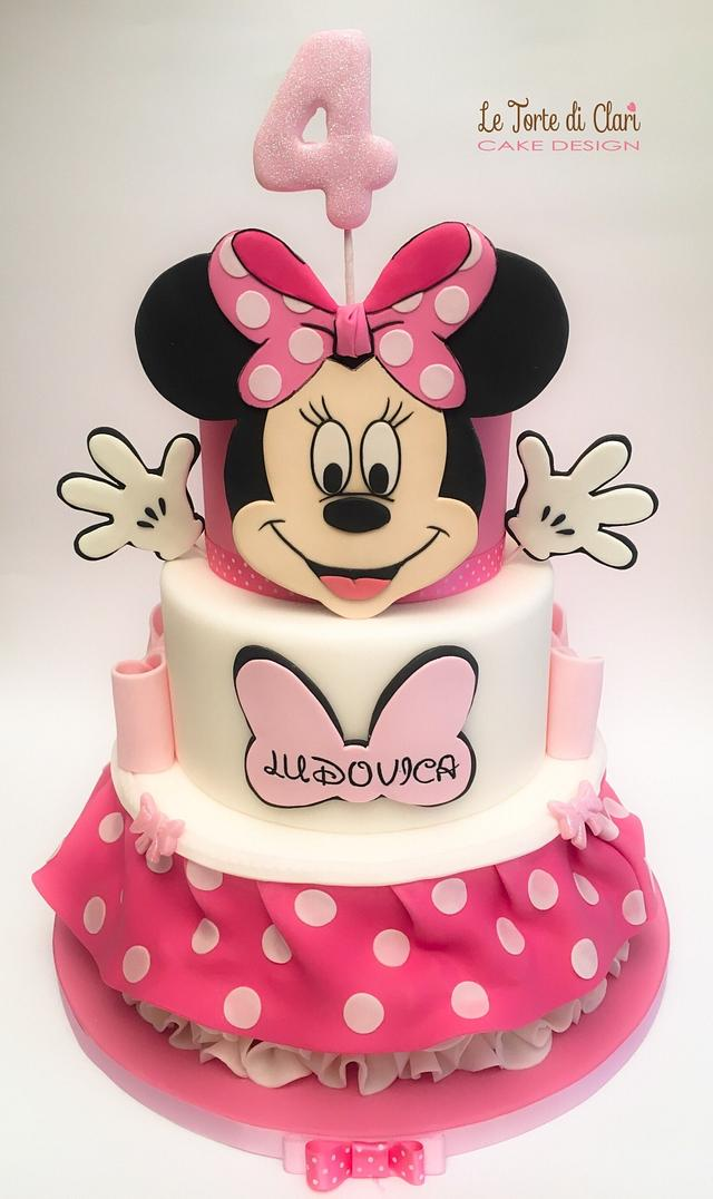 Minnie mouse cake...both sides!