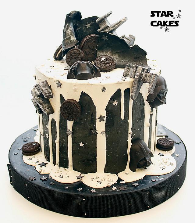 Star Wars drip cake