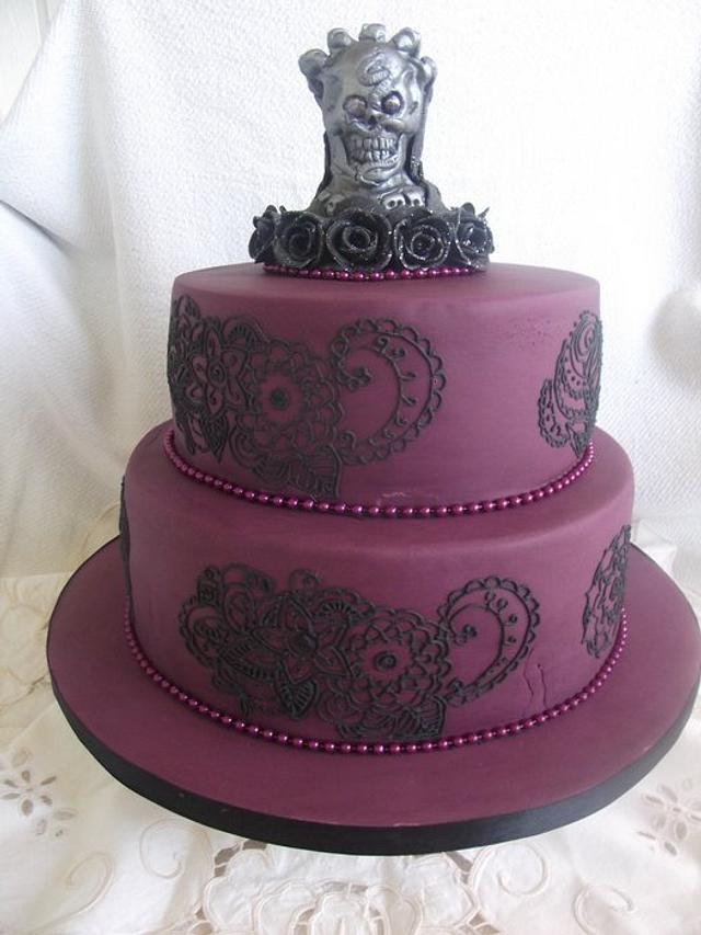 Tremendous Gothic Birthday Cake Cake By Judedude Cakesdecor Funny Birthday Cards Online Aeocydamsfinfo