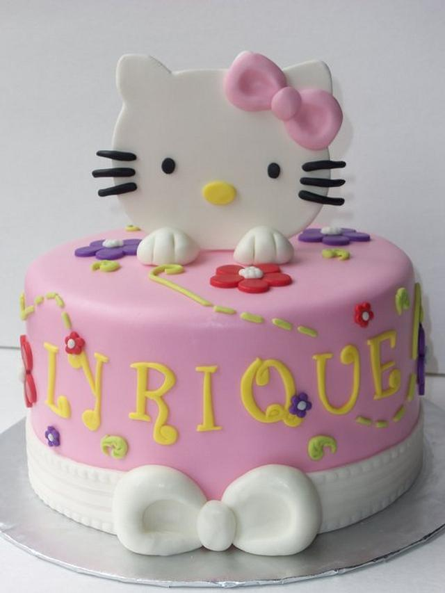 """Hello Kitty's birthday cake"""