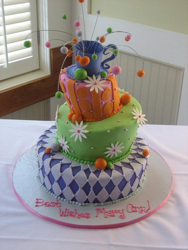Mad Hatter Bridal Shower Cake