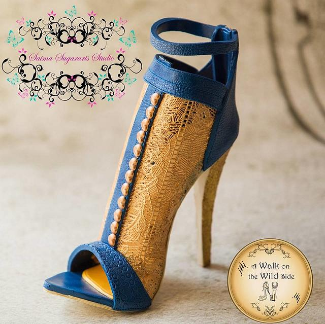 Mesh High heels shoe (A walk on the wild side collaboration)