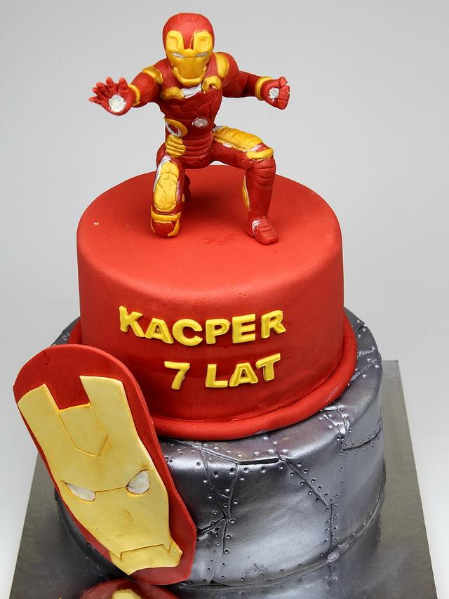 Super Iron Man Birthday Cake Cake By Beatrice Maria Cakesdecor Birthday Cards Printable Trancafe Filternl