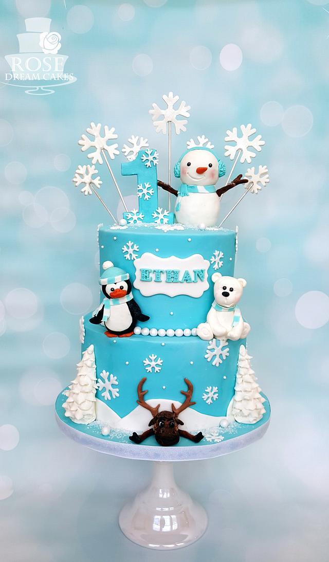 Brilliant Winter Wonderland Birthday Cake Cake By Rose Dream Cakesdecor Funny Birthday Cards Online Fluifree Goldxyz