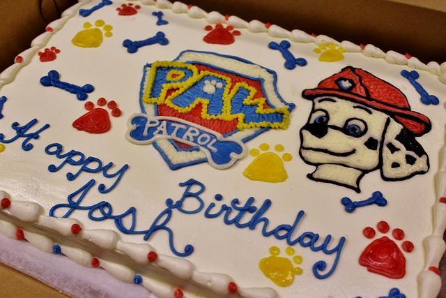 Paw patrol cake buttercream