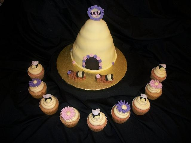 """""""Babee"""" Themed Shower for Twin Girls"""