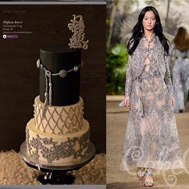 Elie Saab inspired Cake