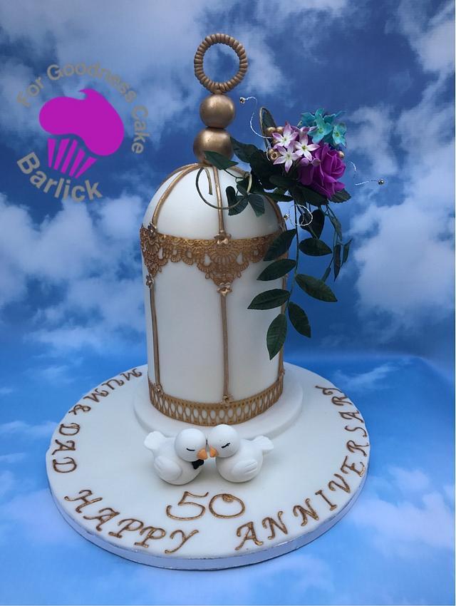 Golden Wedding Birdcage