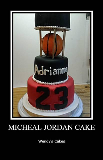 Awe Inspiring Michael Jordan Cake Cake By Wendy Lynne Begy Cakesdecor Funny Birthday Cards Online Elaedamsfinfo