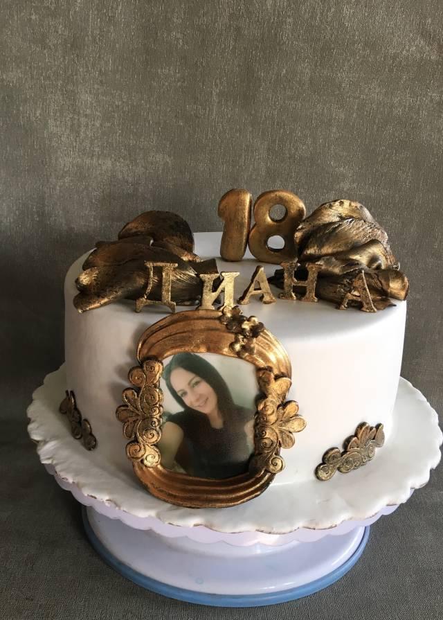 Admirable Happy 18Th Birthday Cake By Doroty Cakesdecor Funny Birthday Cards Online Hetedamsfinfo