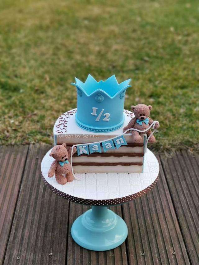 Pleasing 1 2 Birthday Cake By Tortenbysemra Cakesdecor Birthday Cards Printable Benkemecafe Filternl