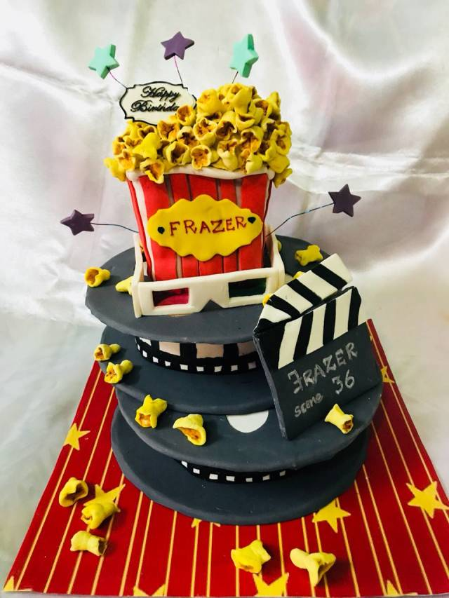 Wondrous Themed Birthday Cake 3 Movie Theatre Theme Cake Cakesdecor Funny Birthday Cards Online Alyptdamsfinfo