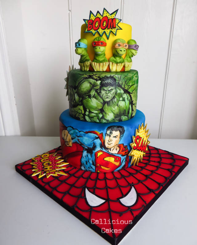 Sensational Superhero Birthday Cake Cake By Calli Creations Cakesdecor Birthday Cards Printable Riciscafe Filternl