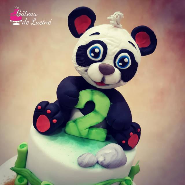 Brilliant Panda Birthday Cake Cake By Gateau De Lucine Cakesdecor Funny Birthday Cards Online Alyptdamsfinfo