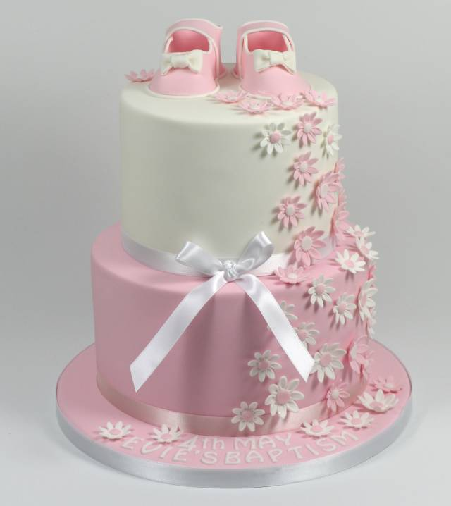 Incredible How To Make 2 Tier Pretty Fondant Gumpaste Baby Shoe And Cakesdecor Funny Birthday Cards Online Inifofree Goldxyz