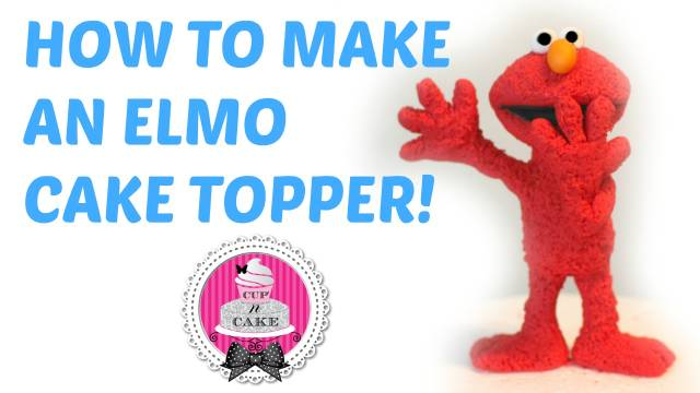 Learn How To Make A Cute Fuzzy Elmo Fondant Cake Topper