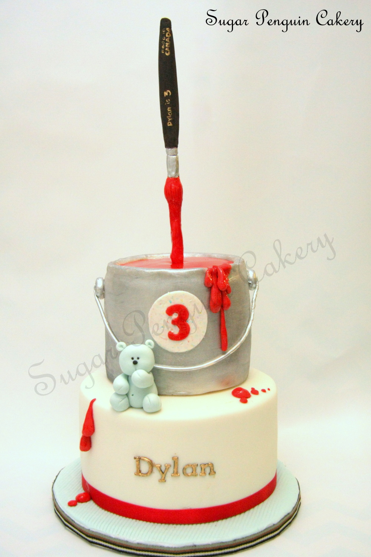 Terrific Gravity Defying Art Themed Birthday Cake Cake By Ivone Cakesdecor Funny Birthday Cards Online Necthendildamsfinfo