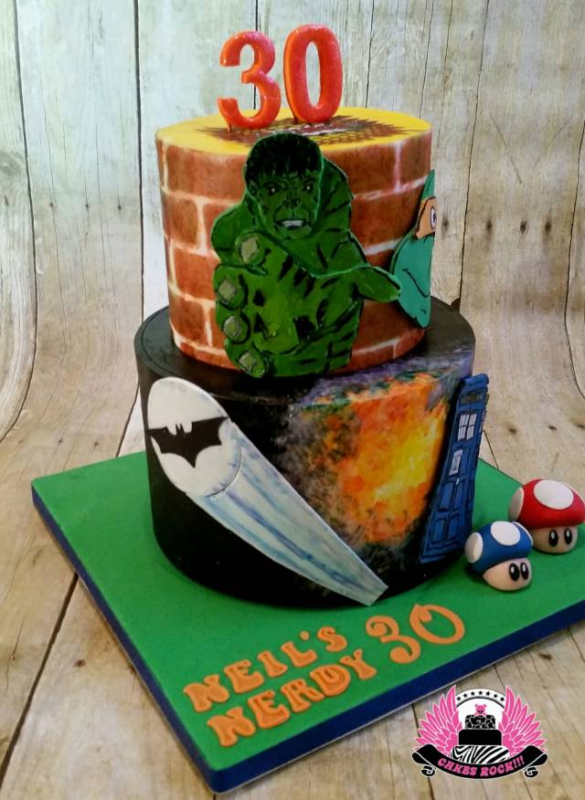 Wondrous Nerdy 30 Birthday Cake Cake By Cakes Rock Cakesdecor Funny Birthday Cards Online Inifofree Goldxyz
