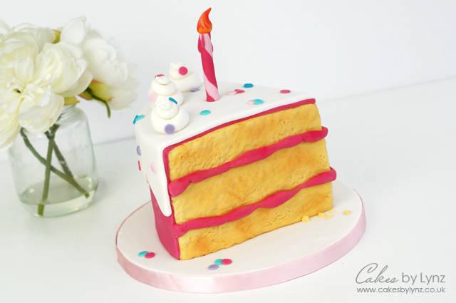 Surprising How To Make A Slice Of Cake Tutorial Birthday Cake Cakesdecor Personalised Birthday Cards Paralily Jamesorg