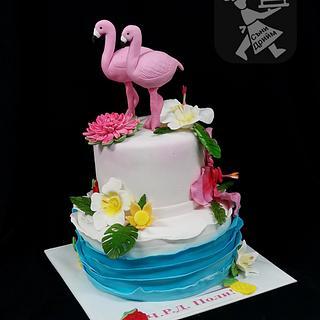 Flamingo cake - Cake by Sunny Dream