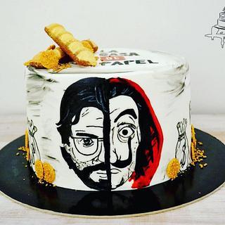 La Casa De Papel Cake - Cake by Krisztina Szalaba