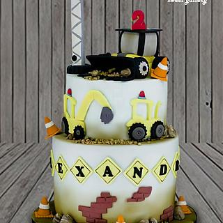 Construction theme Cake - Cake by Othonas Chatzidakis