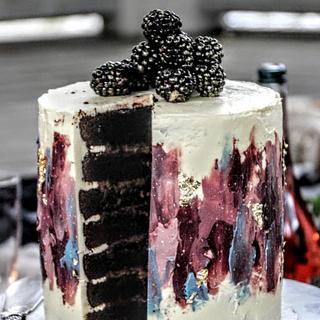 Paint smudge cake