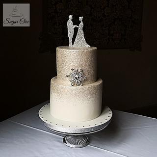 Sparkly, Wintery Wedding - Cake by Sugar Chic