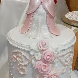 rose cake - Cake by Gisela Gañan