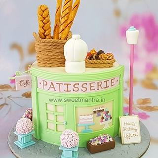Patisserie theme customised cake for chef's birthday