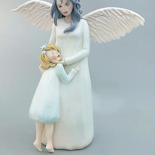 Guardian angel.  - Cake by daniela cabrera