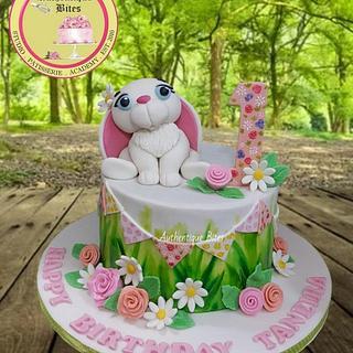 Bunny Hand Painted Cake - Cake by Authentique Bites by Ekta & Nekta