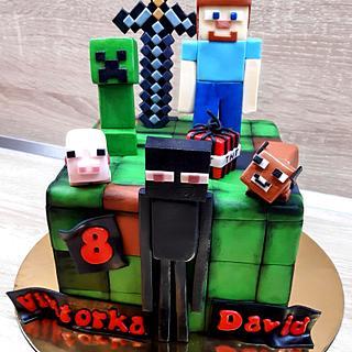 Minecraft - Cake by Majka Maruška