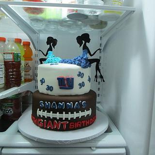 2 sided Ladies Football Fan Cake