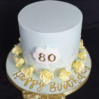 Floral 80th