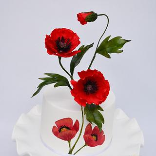 Poppies - Cake by Benny's cakes