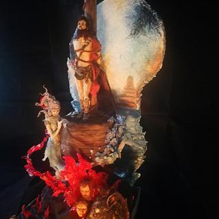 """the speech of Ulysses"" dante  international contest canto XXVI  - Cake by Lucia Valentina Passaniti Lú"