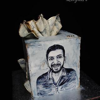 Portrait birthday cake