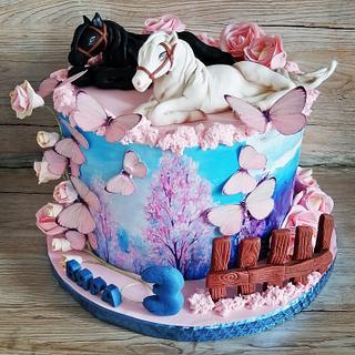 My new Cake 🐎🐎🐎 - Cake by Desislava Tonkova