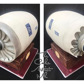 Rolls Royce jet engine  - Cake by The Cake Artist Mk